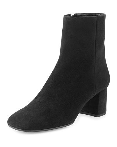 comfortable online good selling for sale Prada Square-Toe Suede Booties tJeq7