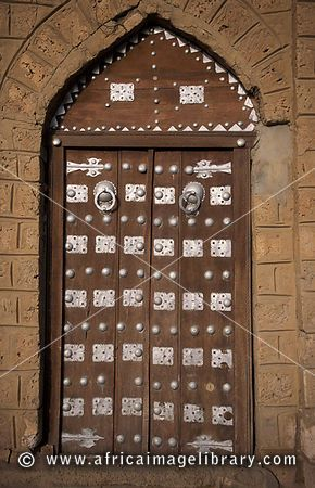 traditional Moroccan style door, Timbuktu, Mali