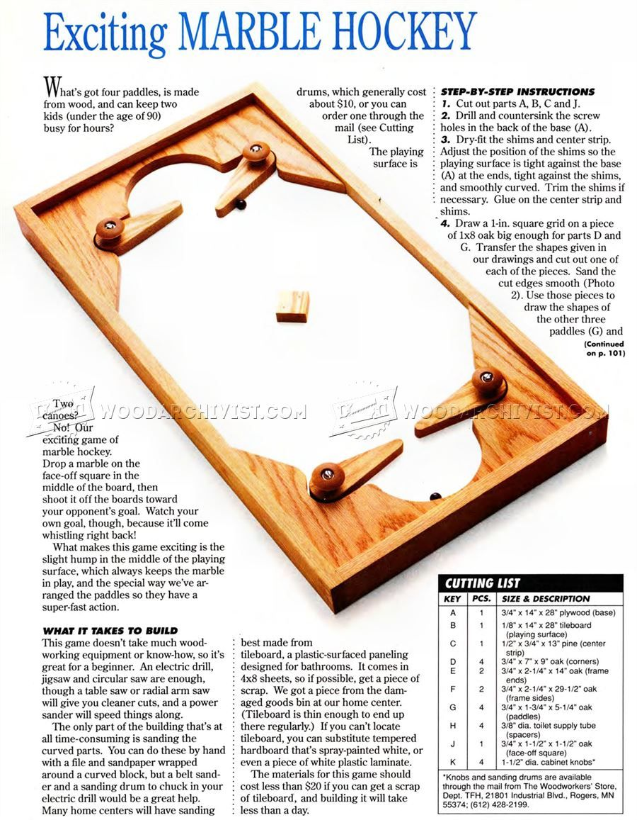Diy Marble Hockey Wooden Toy Plans Diy Marble Woodworking Plans Diy Wood Toys Plans