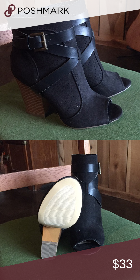 7146f71af Shoes Black Peep Toe Booties. Brand New!!!!!! Only worn one time inside  home. Still have box! Shoes Ankle Boots & Booties