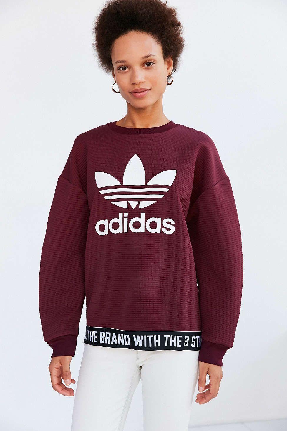 adidas Originals Adicolor Trefoil Pullover Sweatshirt   Wish