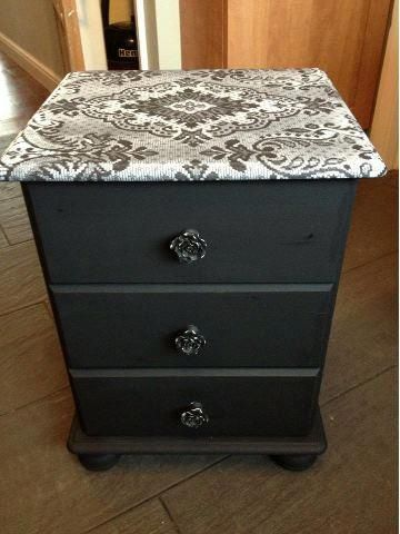 Best Lovely Lace Effect On Bedside Drawers Upcycled Furniture 400 x 300