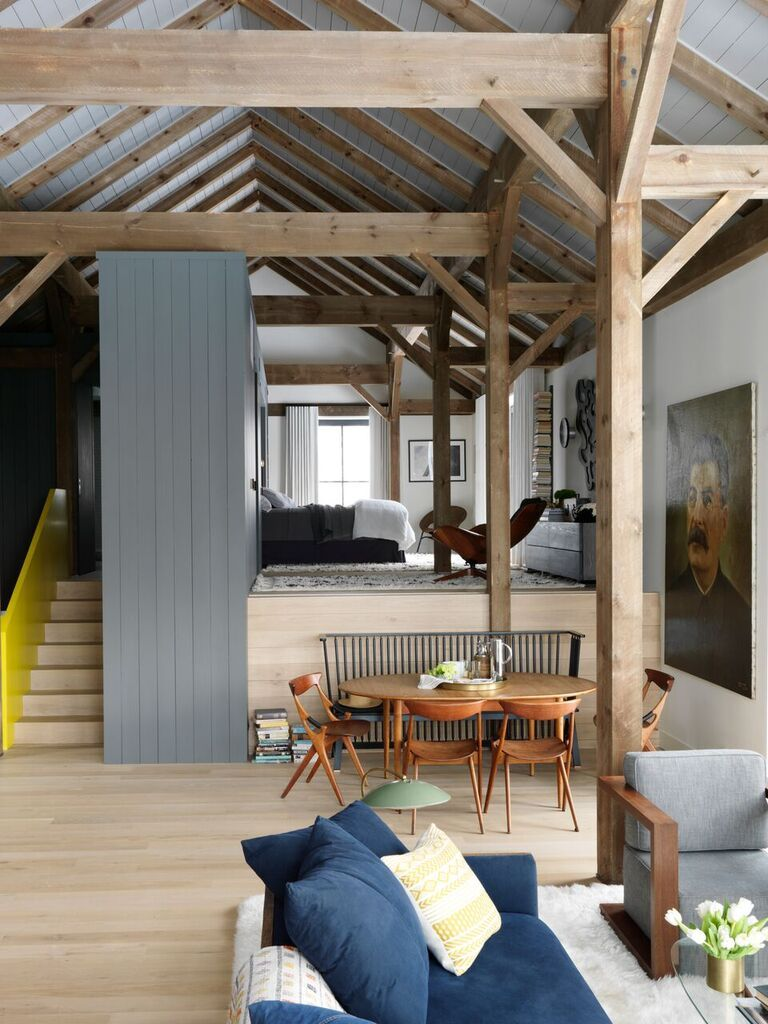 Open plan living area at Fox Hall, a Passive House by ...