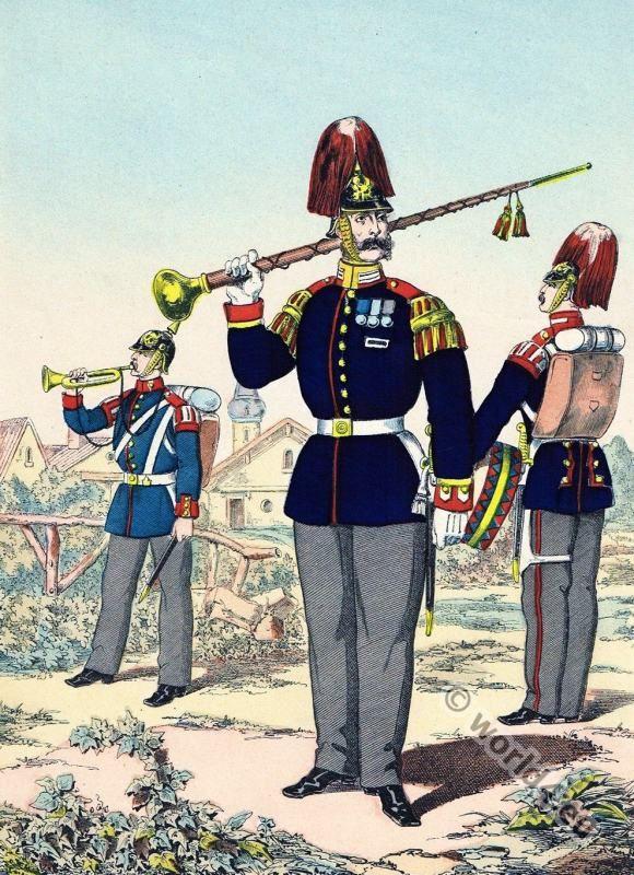 Prussian army uniforms c 1870 Franco Prussian war Google Search Prussia Pinterest
