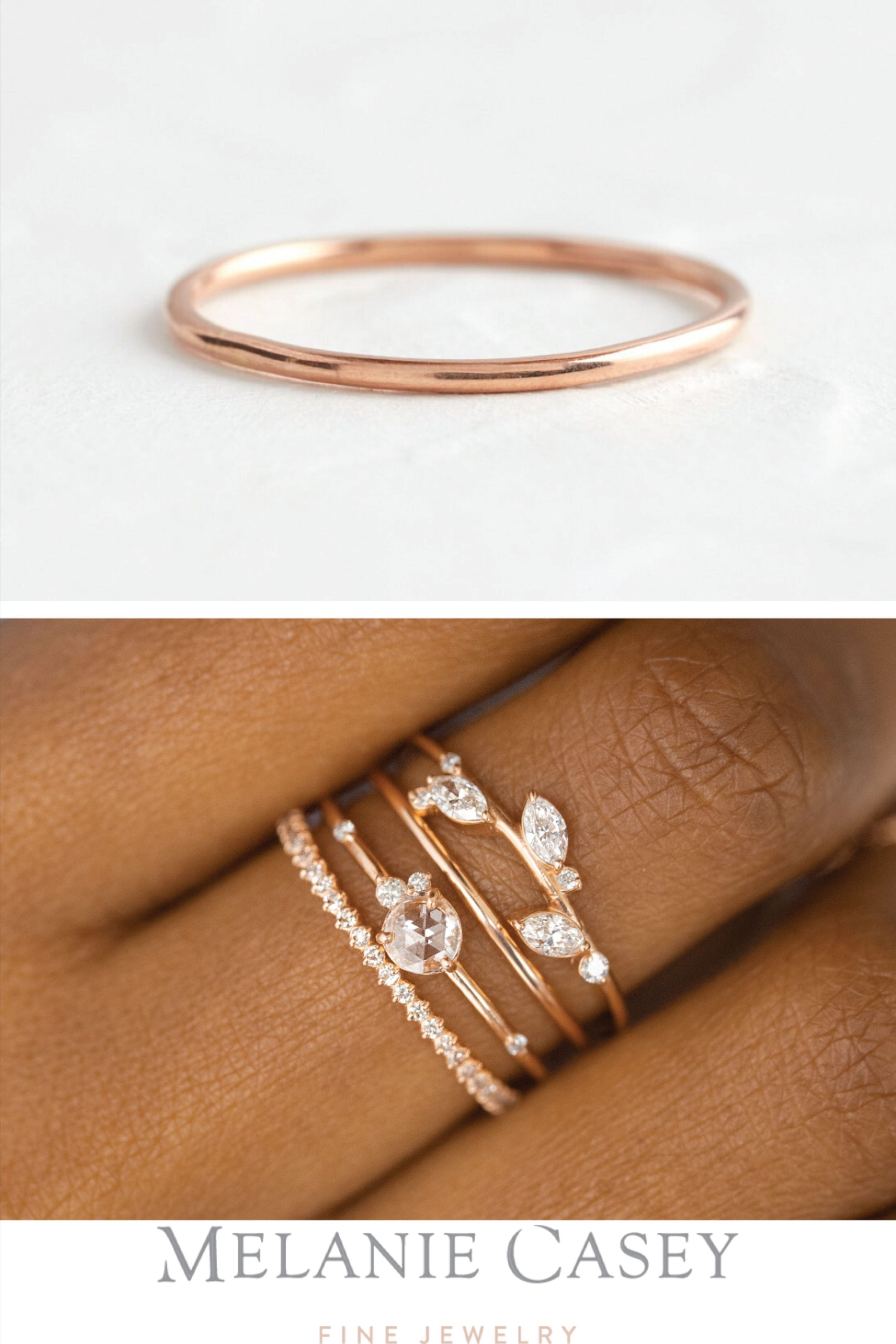 Pairing Band With Images Stacked Wedding Bands White Gold Diamond Wedding Rings Simple Wedding Bands