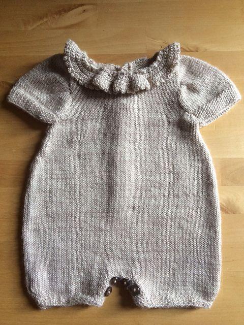 eea940204 Ravelry: letterbyletter's Newborn romper   Knitting Patterns   Tejidos para  bebé, Peleles bebe y Canastillas de bebe