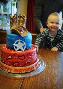 The Cowboy Cake for our little buckeroo. Gotta be a favorite. :-)