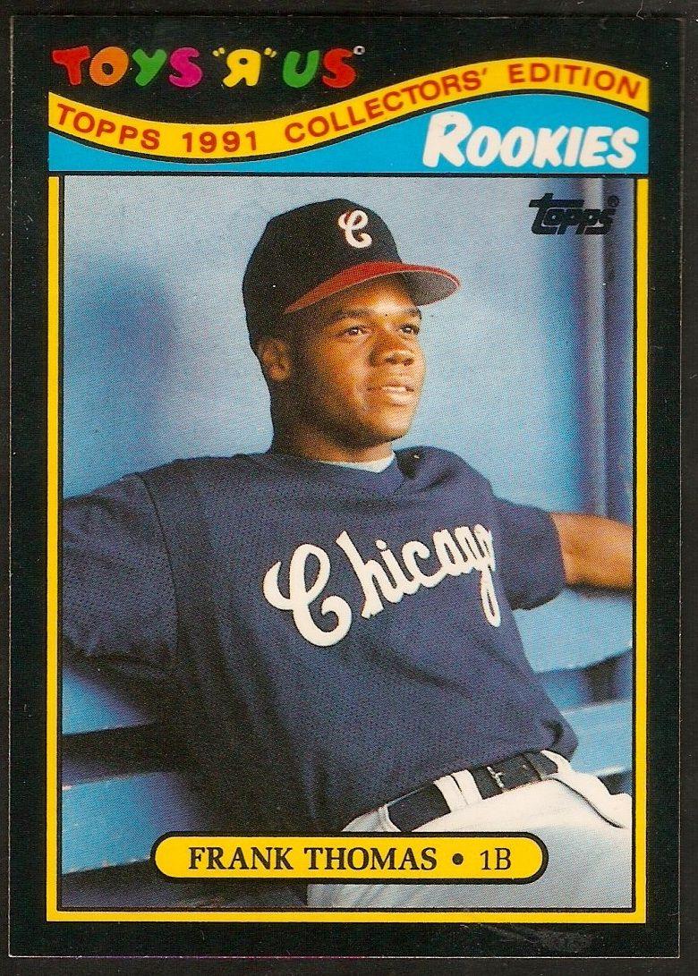 1991 toys r us rookies frank thomas frank thomas