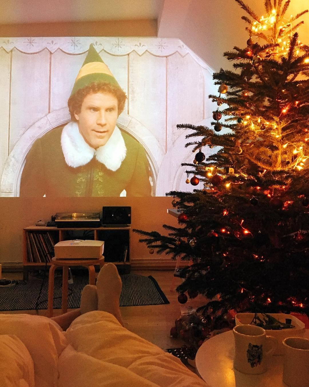 Christmas Movie Night Elf Chill Watching My Favorite Xmas Movie With My Love Perfect Christmas In 2020 Christmas Movie Night Cozy Christmas Christmas