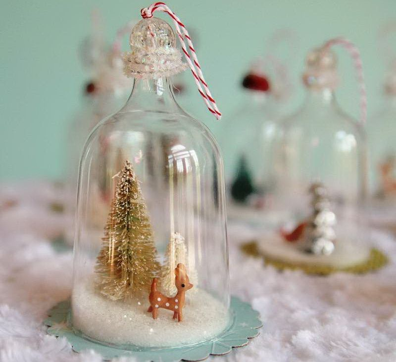 Decoration Ideas With Glass Bottles Christmas Decorations In Glass Containers  Christmas