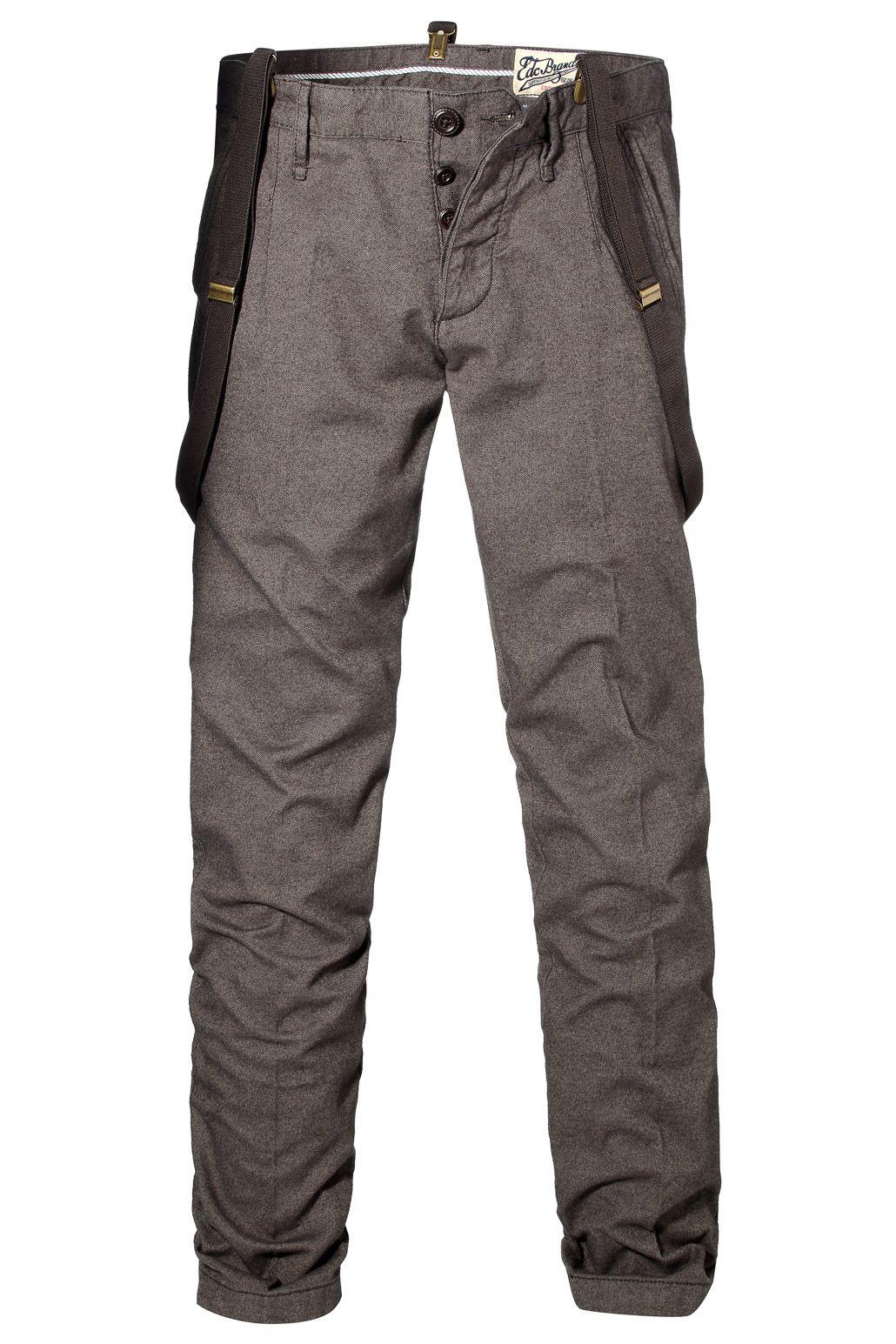 edc   Pantalon en tweed + bretelles à acheter sur la Boutique en ligne d035d27f467