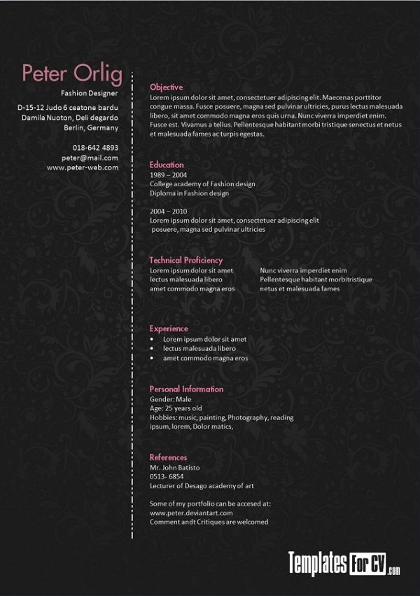25 Creative Cv Templates That Will Make You Stand Out Pixel77 Creative Resume Template Free Creative Cv Template Creative Resume