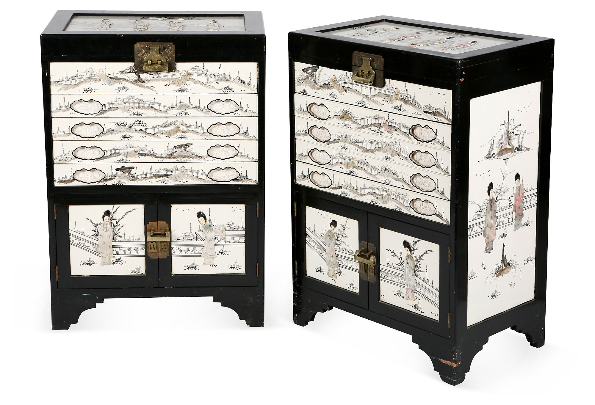 Asian Cabinets W Mother Of Pearl Pair On One Kings Lane Today Home Design Decor Asian Cabinet Home Decor [ 1362 x 2000 Pixel ]