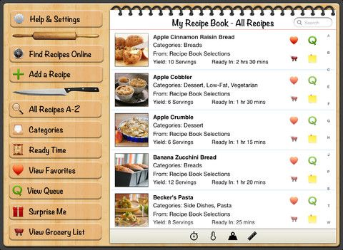 Ipads recipebook it has a few pre added recipes but its meant my recipe book your recipes finally organized on the app store forumfinder Image collections