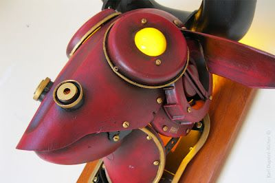 minotaure lamp by Karl Dupéré-Richer #sculpture #lamp #steampunk #minotaure