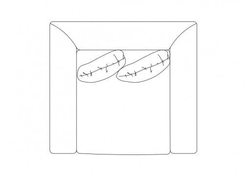 Armchair Top View Free Cads Armchair Top View Four Arms