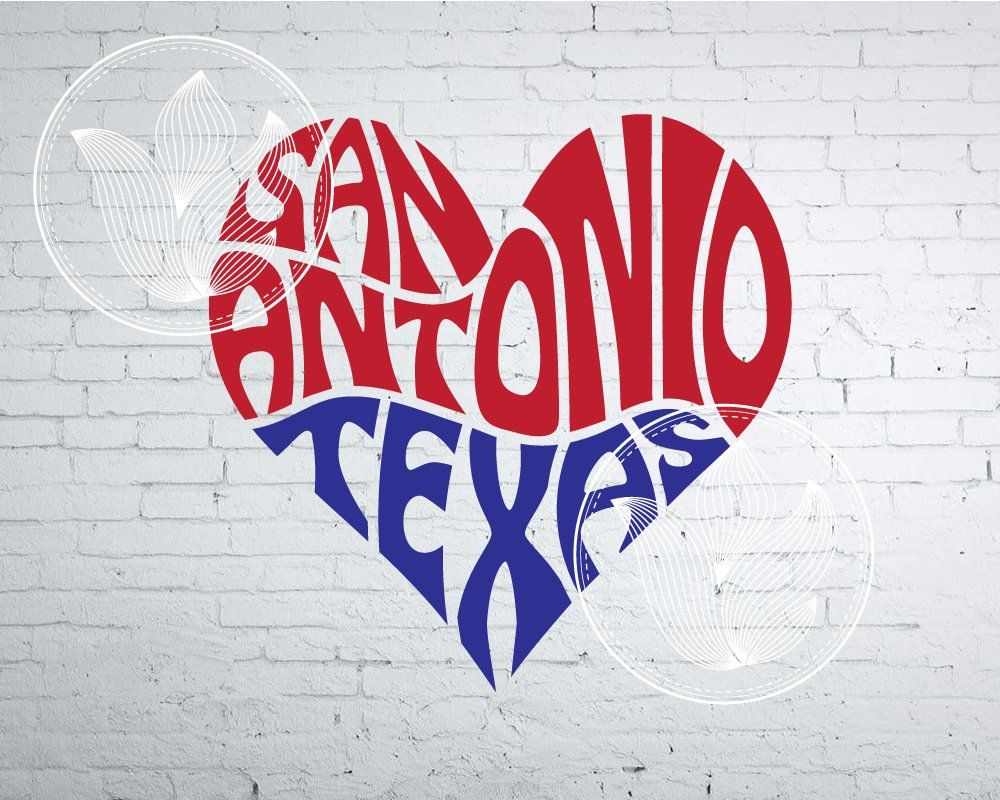San Antonio Texas Word Art, San Antonio TX Svg Dxf Eps Png