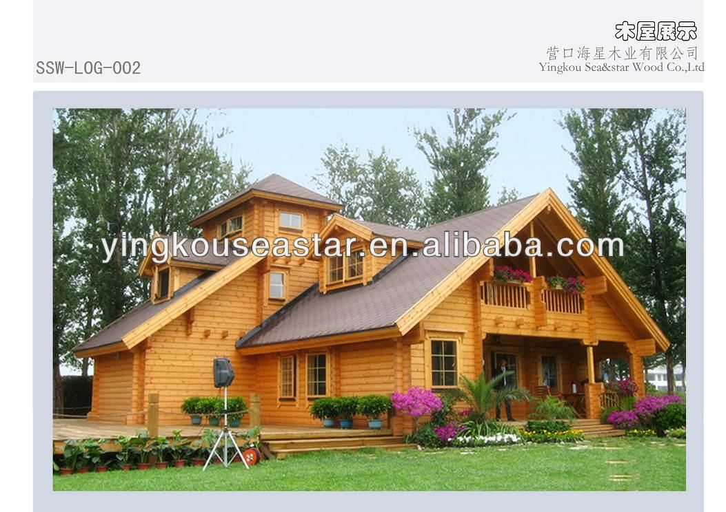 Canadian Wood Garden House Prefabricated Homes Log 002 200 500