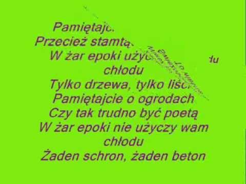 Pamietajcie O Ogrodach Youtube Poland Homeland Youtube