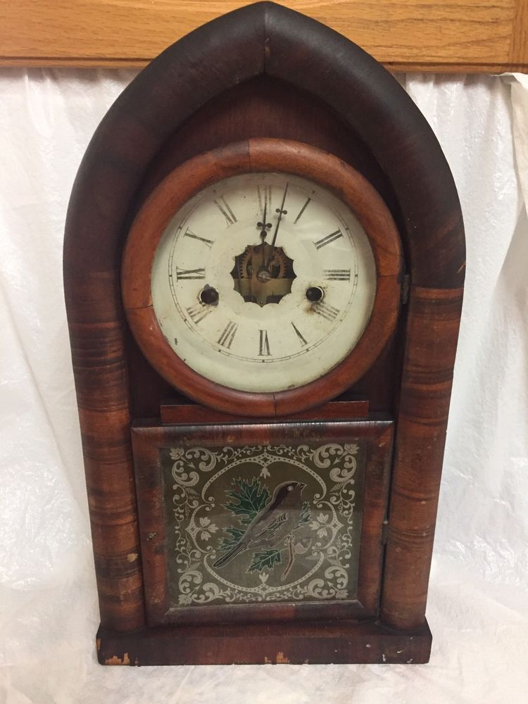Antique Ansonia Gothic Parlor Mantel Clock AS IS Repair Parts Restoration |  eBay - Antique Ansonia Gothic Parlor Mantel Clock AS IS Repair Parts