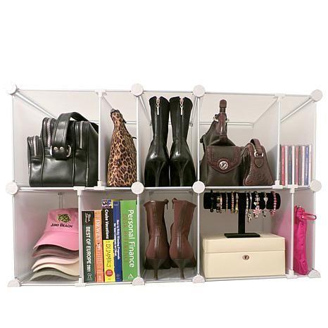 Luxury Living 10 Cubby Adjustable Park A Purse Organizer 7306454