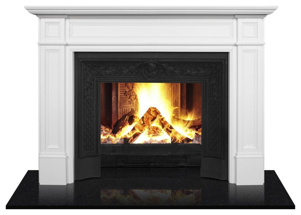 Fire Surround Timber Mantel Piece Parliament 034 Large 034 White Wide Hamptons Ma Fireplaces For Sale Electric Fireplaces For Sale Large Electric Fireplace