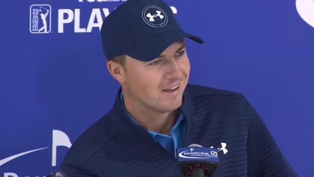 Jordan Spieth news conference before Deutsche Bank PGA