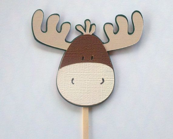 Moose Cupcake Topper  Made to Match Camo  Hunting by BellaArtista, $20.00