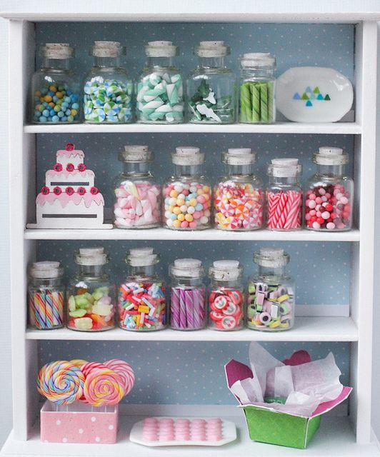 Blue Candy Shop Shelf | Miniaturas