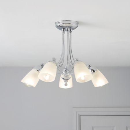 Lights by bq venus ceiling light departments diy at bq
