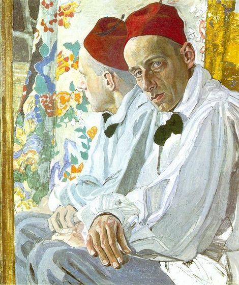 Alexander Golovin, Portrait of the stage Director Vsevolod Meyerhold. 1917 on ArtStack #alexander-golovin #art