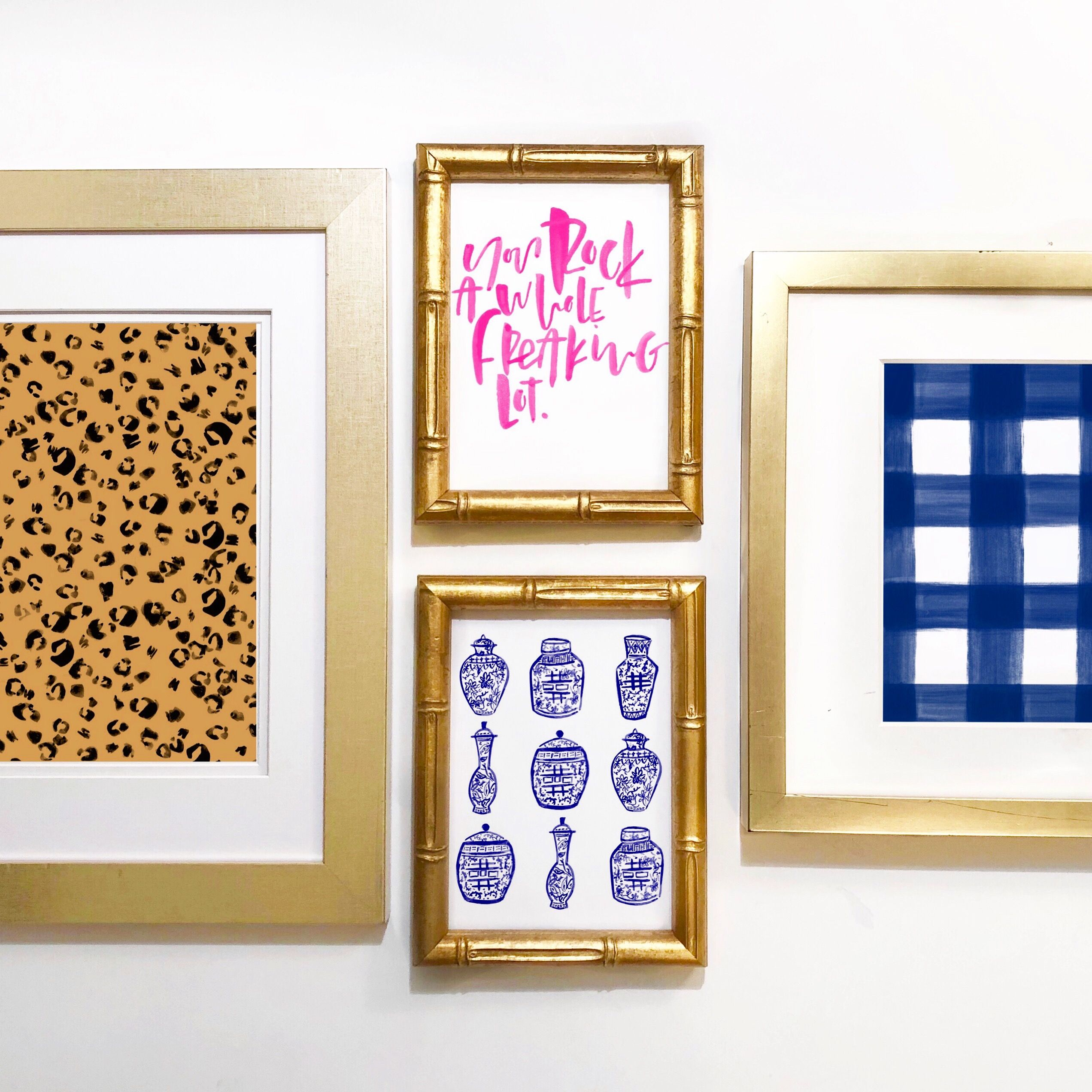 Up your gallery wall game by adding different sizes to the mix! This adds variations and makes the overall look more dynamic!