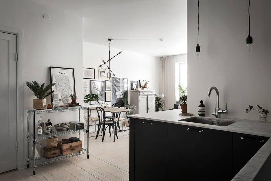 Inrichten Klein Appartement : Klein droomappartement van 44m2 huis pinterest zwarte kasten