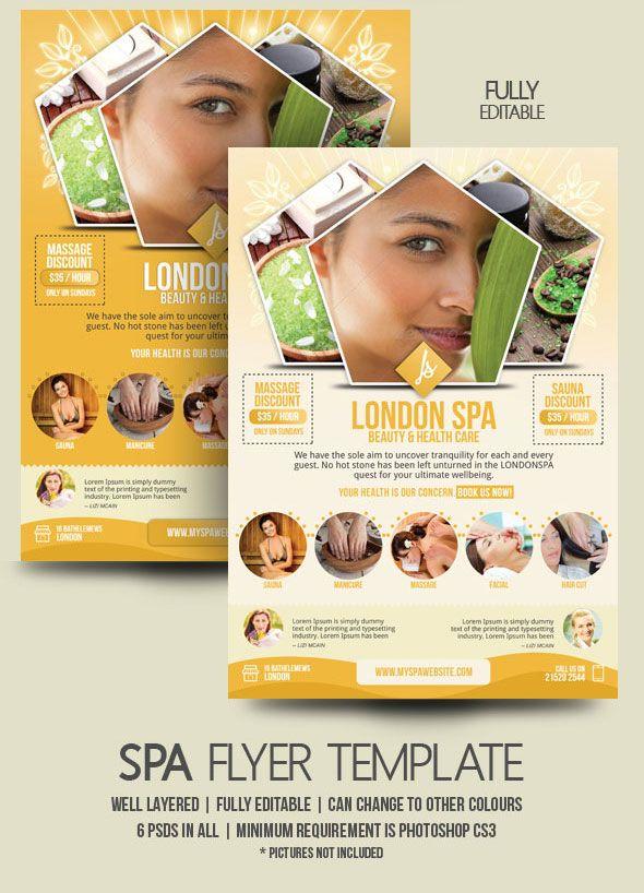 Spa Promotion  Spa Flyer Design  Flyer Design