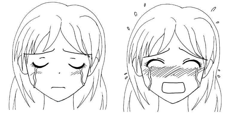 Tutoriel manga les expressions faciales des femmes - Dessin manga visage ...