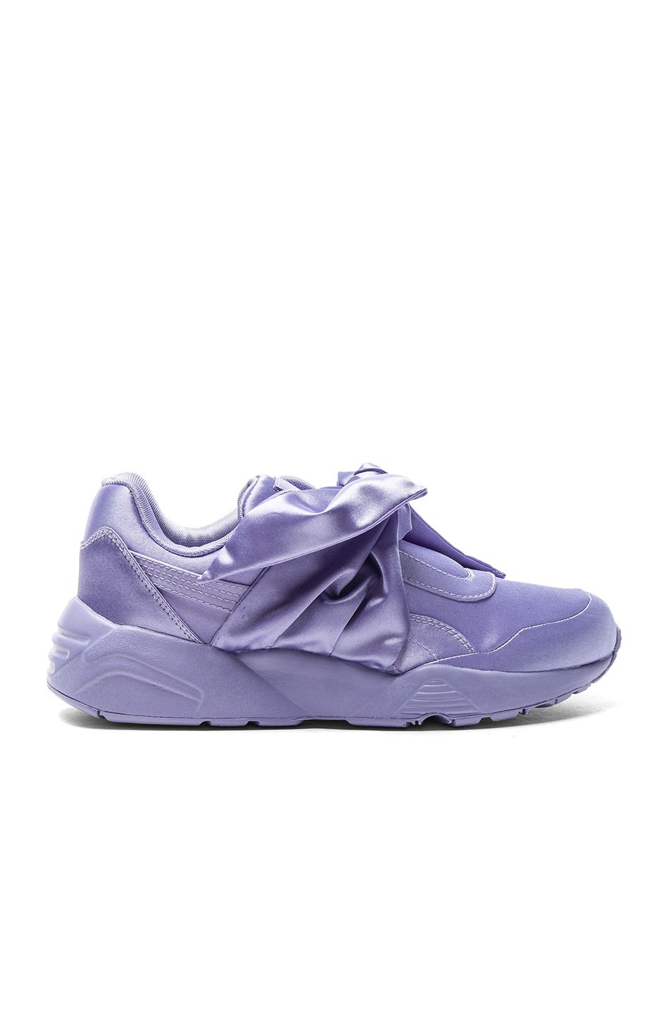 quality design 00e48 de991 Fenty by Puma Bow Satin Sneakers in Sweet Lavender | FWRD ...