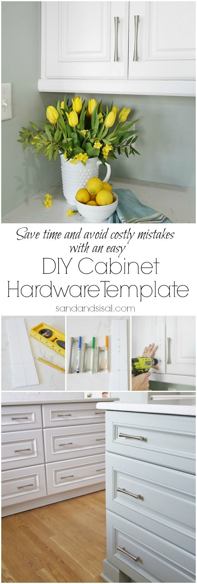 DIY Cabinet Hardware Template - Hardware Installation Made Easy ...