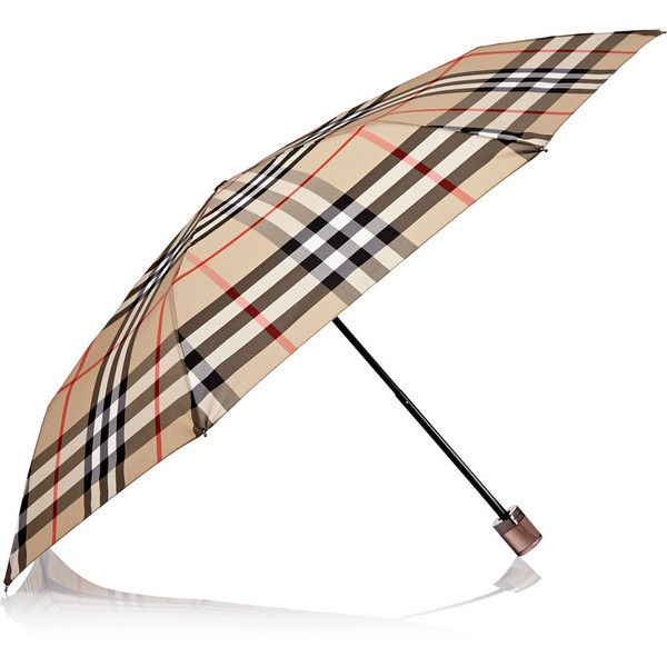 Burberry London London checked umbrella (€200) ❤ liked on Polyvore featuring accessories, umbrellas, neutral, lightweight umbrella, colorful umbrellas, burberry and burberry umbrella