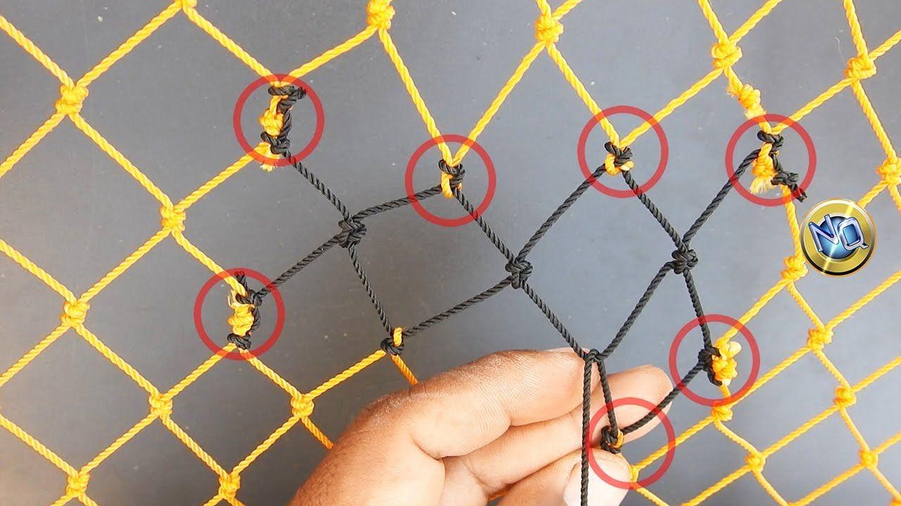 cómo reparar rotura de red? nudos y técnicas net mending pescanudos y técnicas net mending
