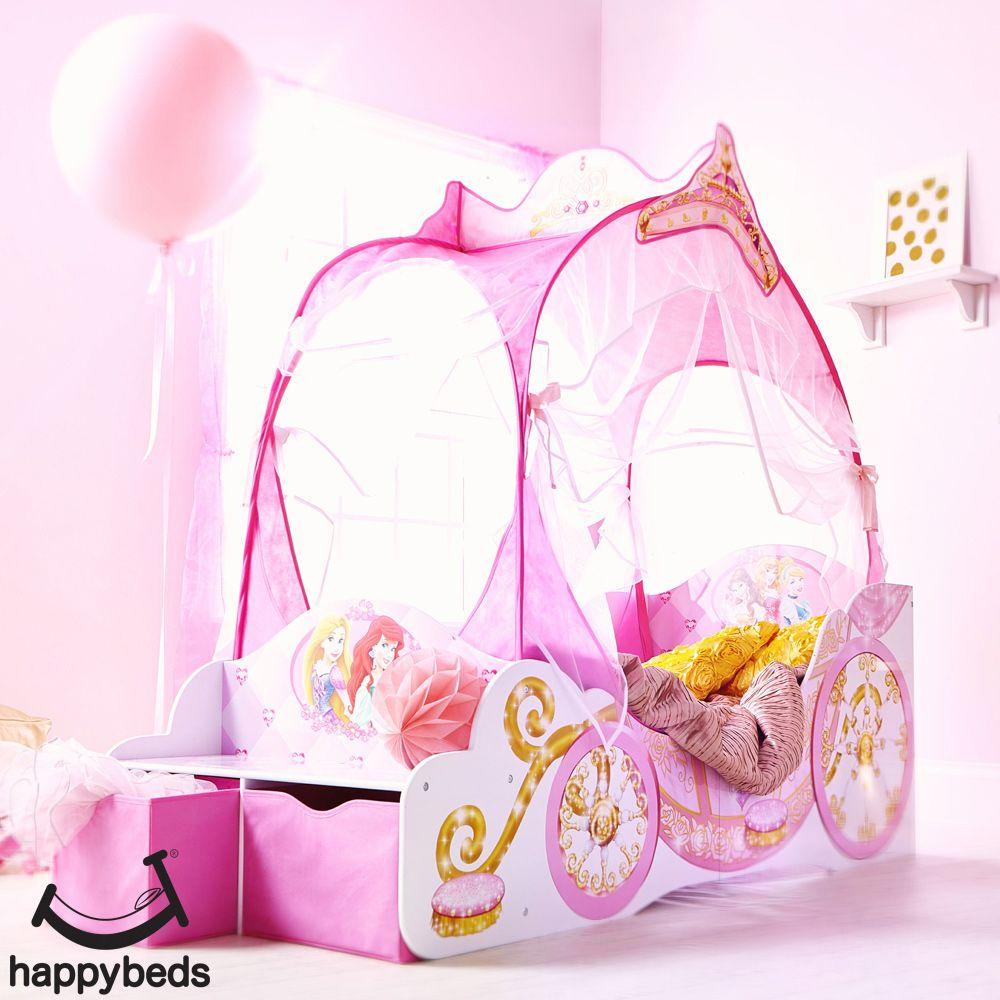Disney Princess Toddler 2 Drawer Storage Carriage Bed ...