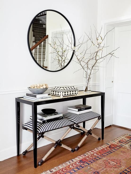 Black Narrow Console Table
