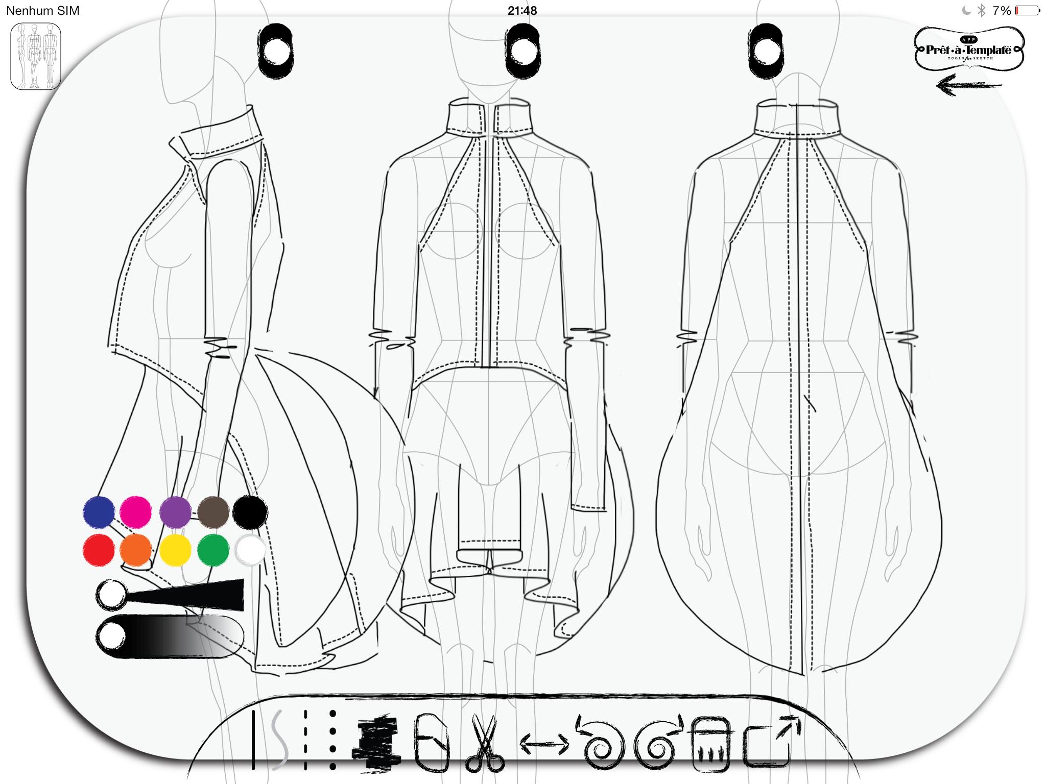 Fashion Sketch App Pret -à- Template (Free Download