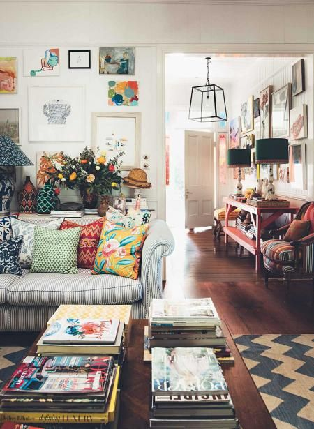Anna Spiro: Interior Designeru0027s Colourful Brisbane Home. Cozy Eclectic  Living RoomColourful ...