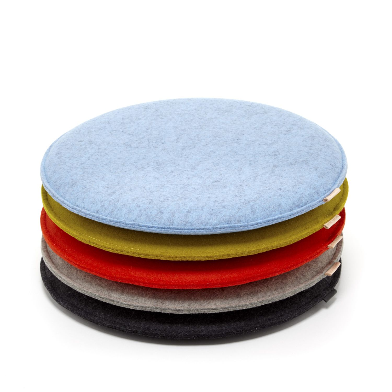 Endearing Zabuton Round Wool Felt Seat Pad In Round Seat Cushions