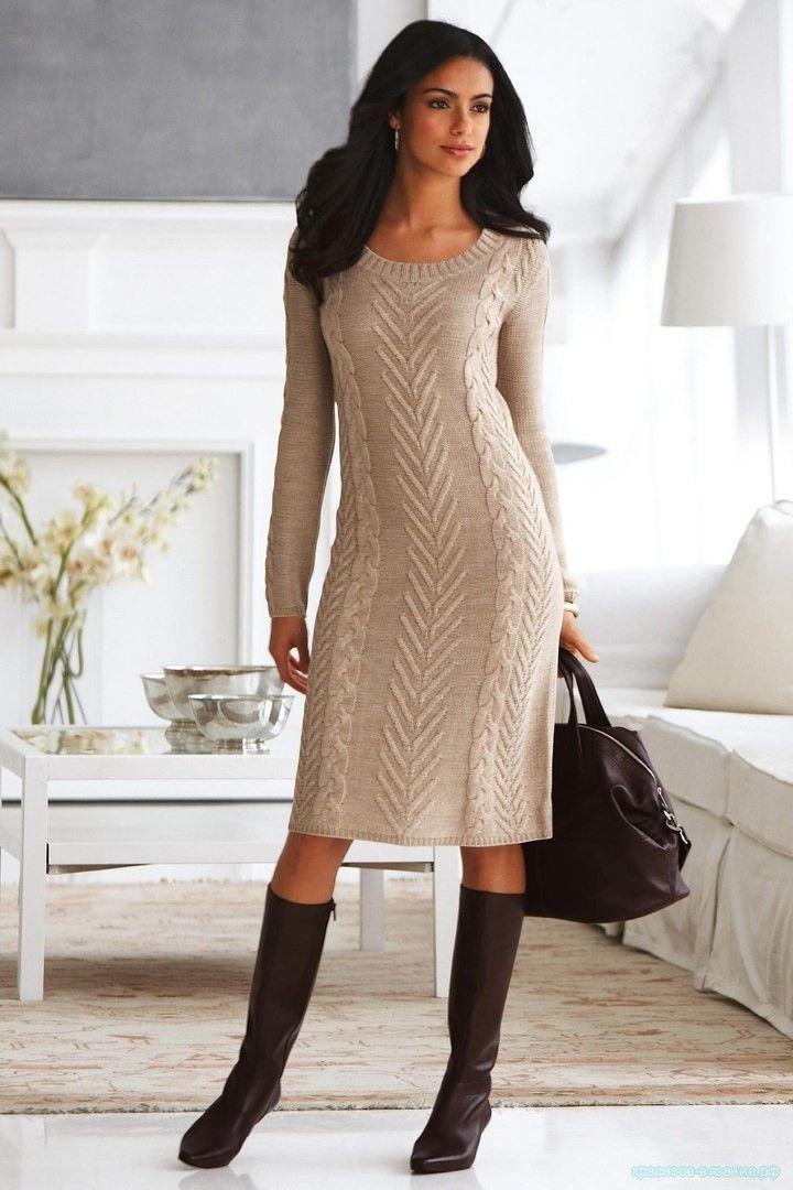 6d3098b34ca5132 Вязание для женщин спицами с описанием и схемой. Вяжем женское платье  спицами. Как связать стильное платье спицами.