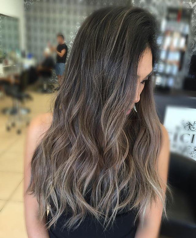 Balayage On Asian Hair Ash Brown | image result for ash blonde balayage asian cheveux