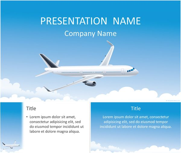 aircraft powerpoint template | travel powerpoint templates | pinterest, Powerpoint templates