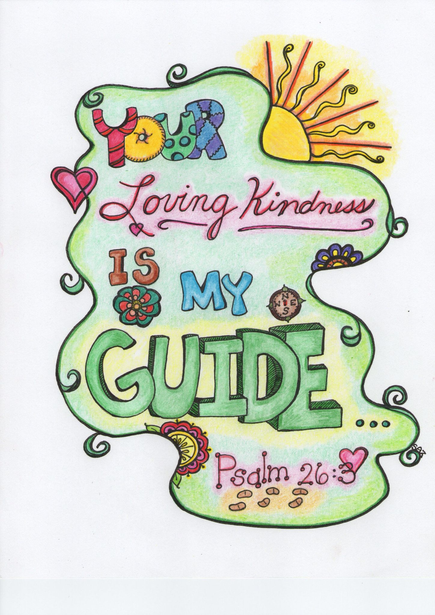 Scripture doodle #2 with color by SAZ. | Worship Aids/Bible ...