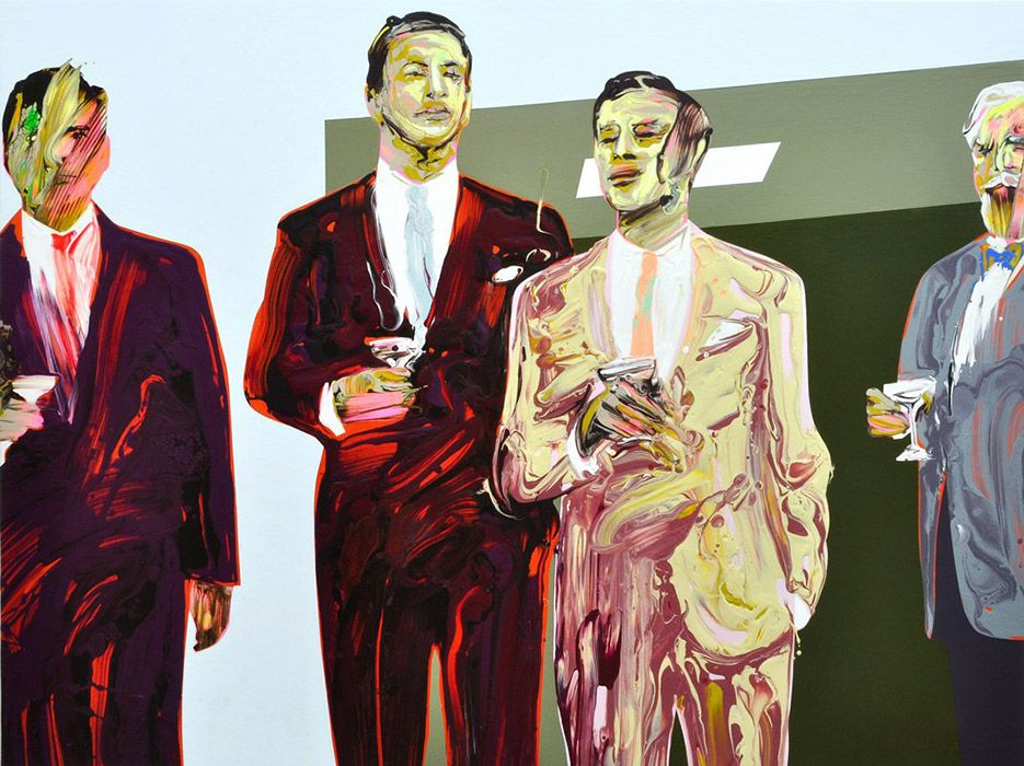 Sirpa Särkijärvi | Ama Gallery  To Management Skills, 105x140cm, 2013, acrylics on canvas
