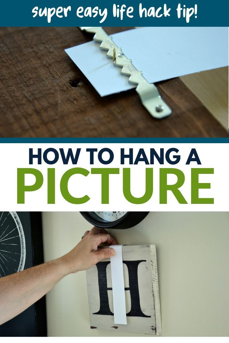 This simple life hack will make hanging pictures on the wall a breeze! #wallart #homedecorating #homedecor #diy #harbourbreezehome